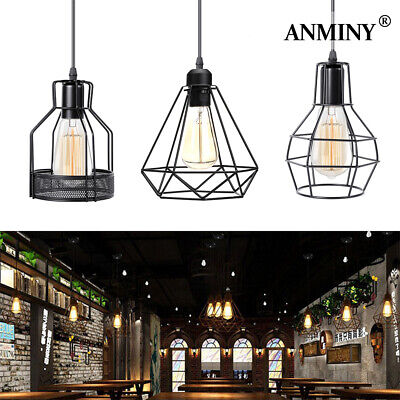 £5.99 • Buy Industrial Wire Cage Ceiling Light Retro Metal Pendant Lamp Shade  Easy Fit