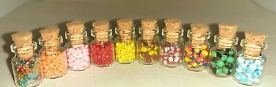 Sweet Candy Shop Bakery. 10 Jars Humbugs & Bonbons FREE POST. 1/12th Scale  • 7£