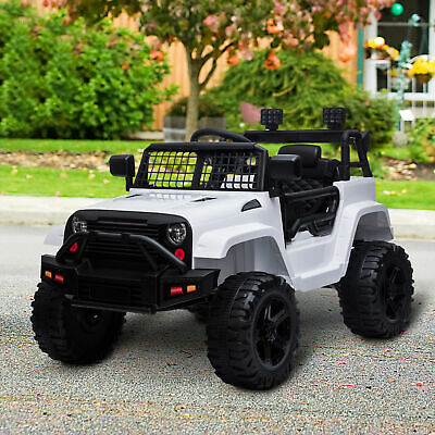 £149.99 • Buy HOMCOM 12V Kids Electric Ride On Car Truck Off-road Toy W/ Remote Control White