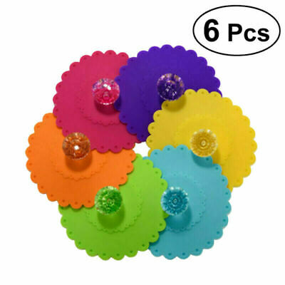 £6.06 • Buy Silicone Cup Lid Glass Drink Cover Anti-dust Coffee Caps Suction Mug Seal M2Z6
