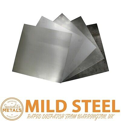 £3.79 • Buy Bargain Budget New MILD STEEL SHEET METAL PLATE 0.5mm To 3mm Thickness UK Made
