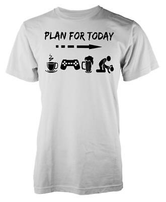 £8.99 • Buy Plan For Today Is To Playstation Coffee Beer Adult T Shirt
