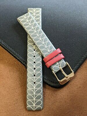£9.99 • Buy Orla Kiely 16mm  High-Quality Genuine Leather Patricia  Replacement Watch Strap