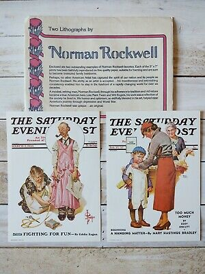 $ CDN12.85 • Buy Norman Rockwell Lithographs, The Saturday Evening Post, Set Of Two