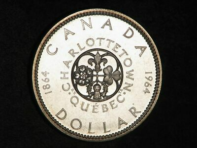 CANADA 1964 1 Dollar Charlottetown Silver Crown Proof-Like BU • 11.80£