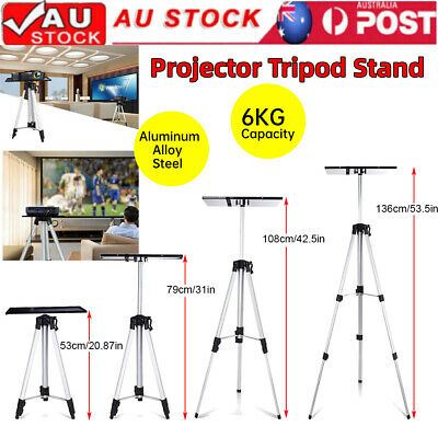 AU42.89 • Buy Aluminium Projector Tripod Stand Adjustable For Laptop W/ Tray 53-136cm Height