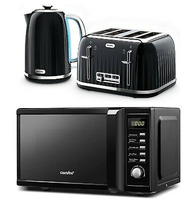 £179.99 • Buy Microwave Oven COMFEE' With Breville Matching Set 4 Slice Toaster & Jug Kettle
