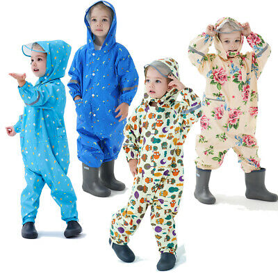 £14.98 • Buy Kids Puddle Paddle Rain Suit Boys Girls All In One Overalls Waterproof Splash