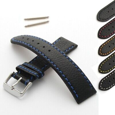£14.95 • Buy Montreux Watch Strap Grained Genuine Leather Stitched With Spring Bars