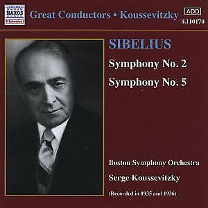 £7.10 • Buy KOUSSEVITZKY:BSO - SIBELIUS: SYMPHONIES 2and5 [CD]