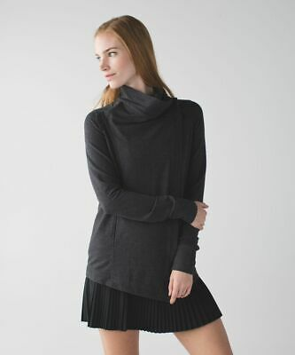 $ CDN84.92 • Buy Lululemon Coast Wrap / Size 12 / Heathered Mod Black Jacket Loose Work