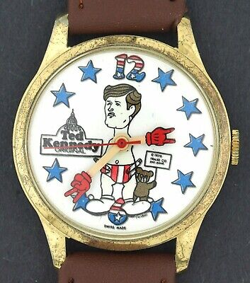 $ CDN151.05 • Buy Vintage 1970's Wind-up Ted Kennedy As Baby Political Satire Character Watch