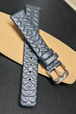 £9.99 • Buy Orla Kiely 16mm  High-Quality Genuine Leather Textured  Replacement Watch Strap
