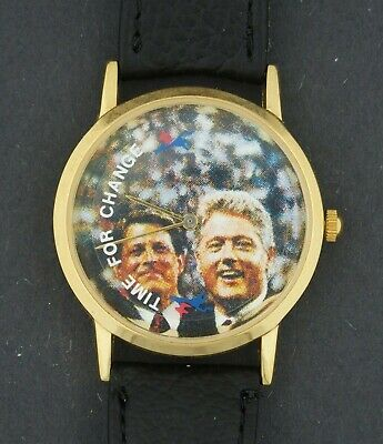 £14.19 • Buy USED - Animated Bill Clinton & Al Gore Political Time For Change Character Watch