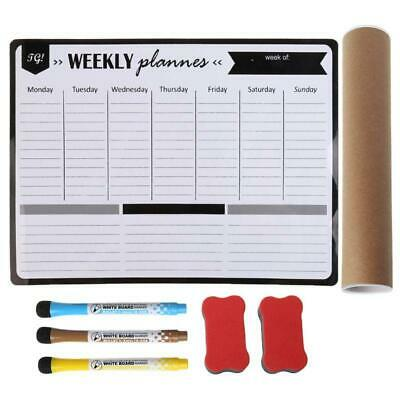 AU17.08 • Buy Weekly Planner Soft Magnetic Whiteboard Fridge Magnets Message Remind Memo Pad