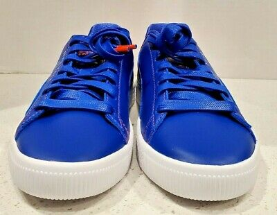 Puma Clyde NYC Knicks Men's Sneakers Blue Leather Size 9 Rare New No BOX • 57.61£
