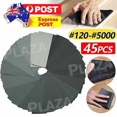 AU8.85 • Buy 45PCS Sandpaper Mixed Wet And Dry Waterproof 120-5000 Grit Sheets Assorted Wood