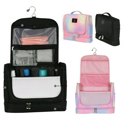 £10.95 • Buy Large Hanging Toiletry Bag Travel Wash Bag Womens Cosmetic Organizer With Hook