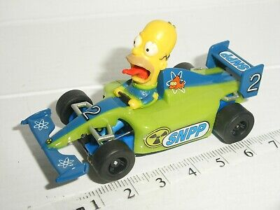 £7.50 • Buy 12V MICRO Scalextric - F1 Homer Simpson Car - Mint Cdn (Blue Chassis)