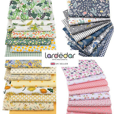 £2.65 • Buy Pre-cut 100% Cotton Twill Fabric 50x40cm - Choice Of Designs - UP TO 30% OFF! UK