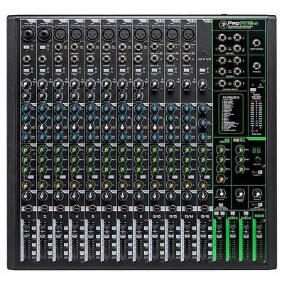 $499.99 • Buy Mackie ProFX16v3 16-Channel 4-Bus Effects Mixer With USB