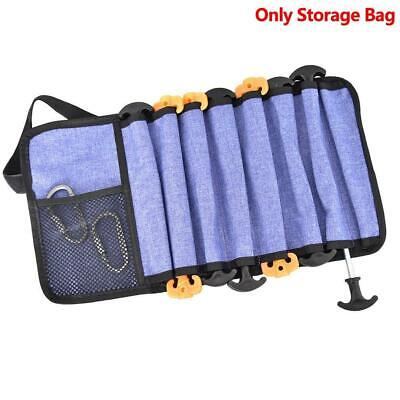 AU11.40 • Buy Heavy Duty Tent Nail And Hammer Storage Bag Stakes Pegs Pouch Holder Hot Sale