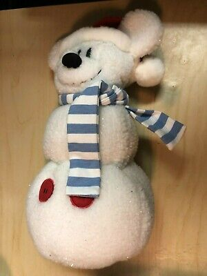 £10.78 • Buy DISNEY STORE 12'' MICKEY MOUSE SNOWMAN Plush - My Personal Decoration WITH TAGS