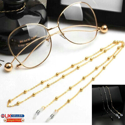 £2.99 • Buy Glasses Neck Chain Cord Lanyard Gold Silver Gun Retainer Spectacles Sunglasses