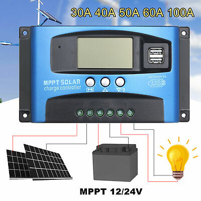 £20.53 • Buy New MPPT 60/100A Solar Panel Regulator Charge Controller Dual USB G3T1