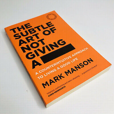 AU22.95 • Buy The Subtle Art Of Not Giving A F***: A Counterintuitive Approach To Living A Goo