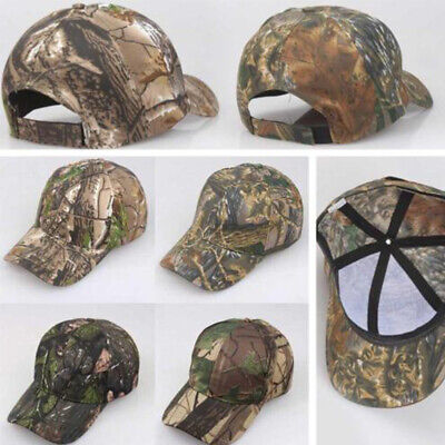£4.85 • Buy Men Women Camouflage Adjustable Cap Camo Baseball Hunting Fishing Army Sun Hat