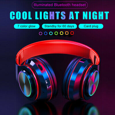 AU38.79 • Buy Wireless Bluetooth 5.0 Noise Cancelling Headphones LED Earphone Headset With Mic