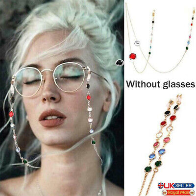 £3.19 • Buy Glasses Neck Cord Strap String Crystal Lanyard Chain Sunglasses Spectacles Metal