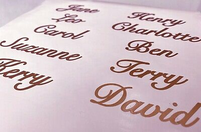£4.75 • Buy 10 X Personalised ROSE GOLD Name Stickers Vinyl Decal Wine Glass Hen Wedding DIY