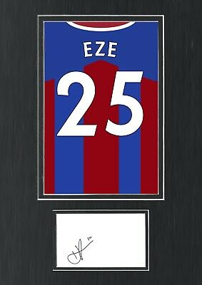 £79.99 • Buy Eberechi Eze Hand Signed Autograph A3 Crystal Palace Shirt Poster Display COA