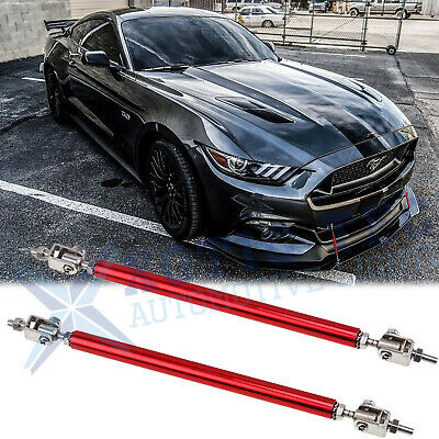 $19.18 • Buy Red Adjustable Front Bumper Lip Splitter Rod Strut Tie Support For Ford Mustang