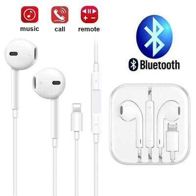 AU8.55 • Buy Wired Bluetooth 8pin Earphones Headphones Mic For Apple IPhone11 8 7 X Xs XR 12