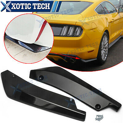 $34.95 • Buy For Ford Mustang Gloss Black Rear Bumper Lip Splitter Diffuser Canard Spoiler