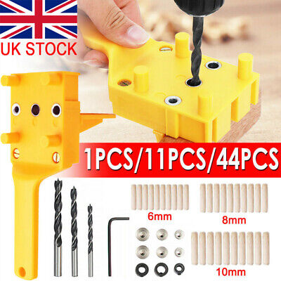 £10.98 • Buy Woodworking Guide Handheld Wood Drilling Dowel Hole Saw Doweling Jig Drill UK