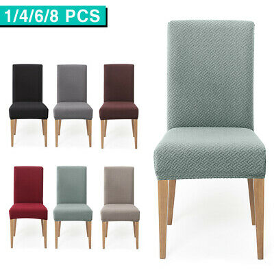 AU6.99 • Buy Premium Dining Chair Cover Jacquard Spandex Slipcover Stretch Thicker Protector