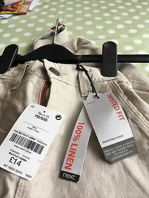 £7 • Buy Next Boys Linen Twisted Fit, Adjustable Waist Trousers Age 5