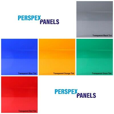 £3.60 • Buy Perspex Transparent Tinted Colour Acrylic Panels 3mm Cut To Size Plastic Sheet