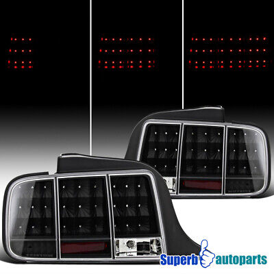 $178.98 • Buy For 2005-2009 Ford 05-09 Mustang LED Tail Stop Lights Sequential Signal Black
