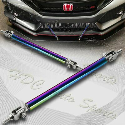$14.99 • Buy 200mm Adjustable Neo Chrome Front Bumper Splitter Lip Strut Support Rod Tie Bar