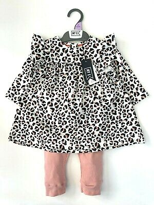 £8.95 • Buy MOTHERCARE Baby Girls Outfit MY K Leggings Top Set Pink Animal Leopard Print NEW