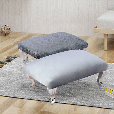 £32.95 • Buy Crushed Velvet Footstool Ottoman Pouffe Stool Small Bench Chair Queen Anne Legs