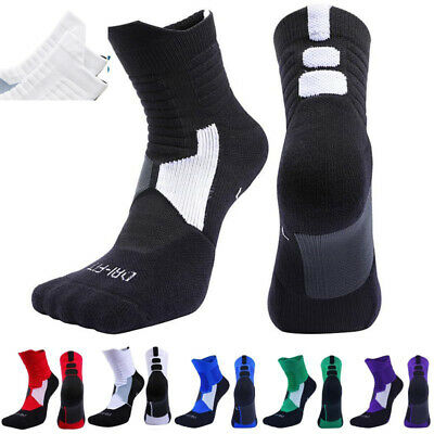 £7.99 • Buy 1/2X Athletic Compression Sports Socks Running Sports Basketball Sock Breathable