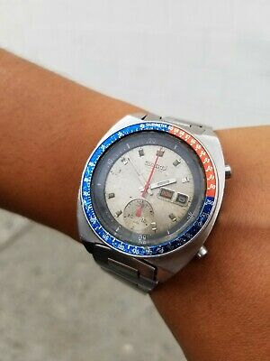$ CDN618.71 • Buy Vintage Seiko Pogue Silver 6139-6002 Chronograph Watch