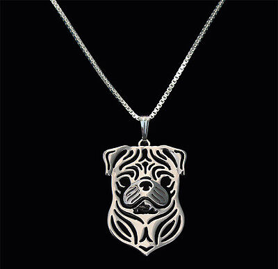 £6.10 • Buy Pug Charm Silver Pendant Necklace Dog Lover, Friend Gift, Gifts For Her