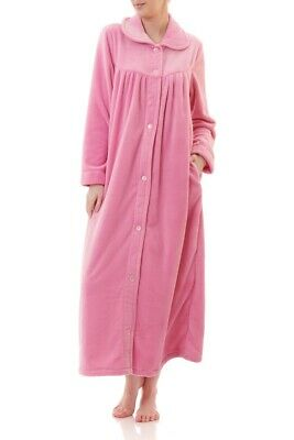 AU89.95 • Buy Ladies Givoni Luxury Button Dressing Gown Long Robe Pink (40)
